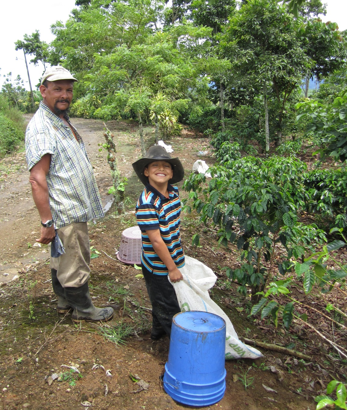 Gerardo and Ariel on their finca outside of Turrialba on my first day of picking coffee!