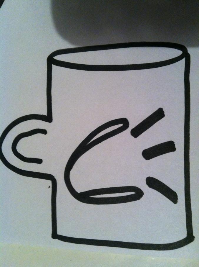 """""""When Coffee Speaks"""" logo draft..."""
