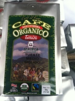 "Costa Rican ""super-certified"" coffee."