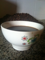 Home roasted coffee. It doesn't get much better than sitting in the middle of the finca, drinking coffee from the finca.