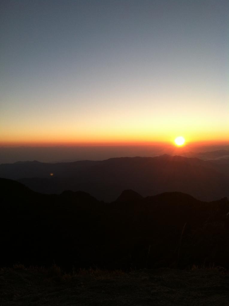 World's coolest sunrise