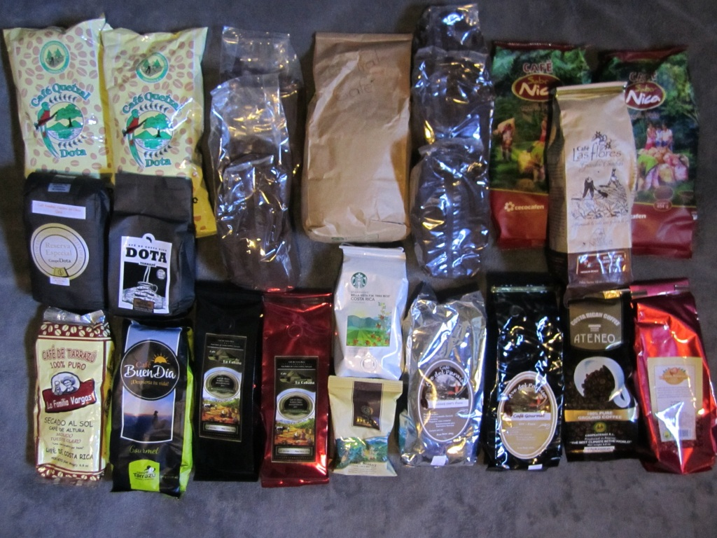 Traveling coffee shelf.