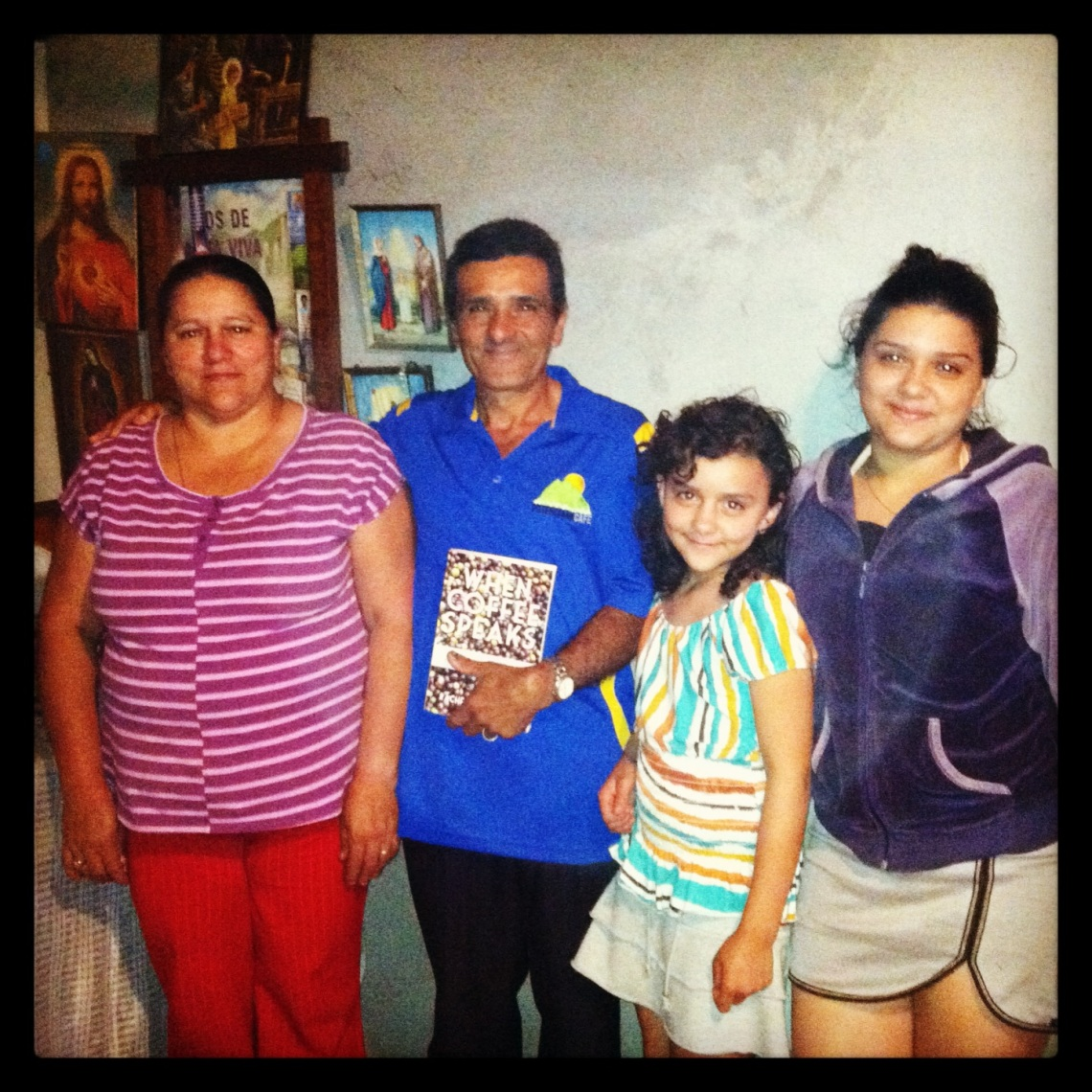 Luis Angel with his family at their home in La Potenciana