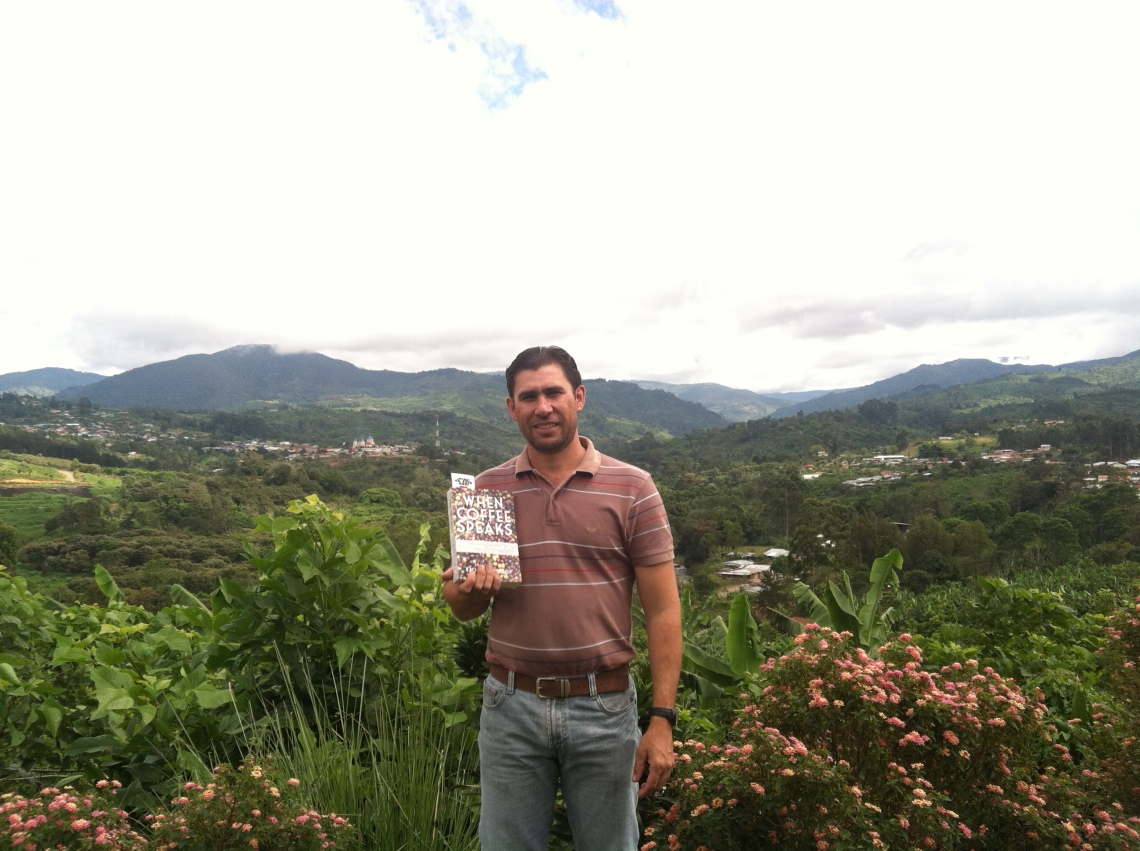 Esteban on his finca in San Marcos
