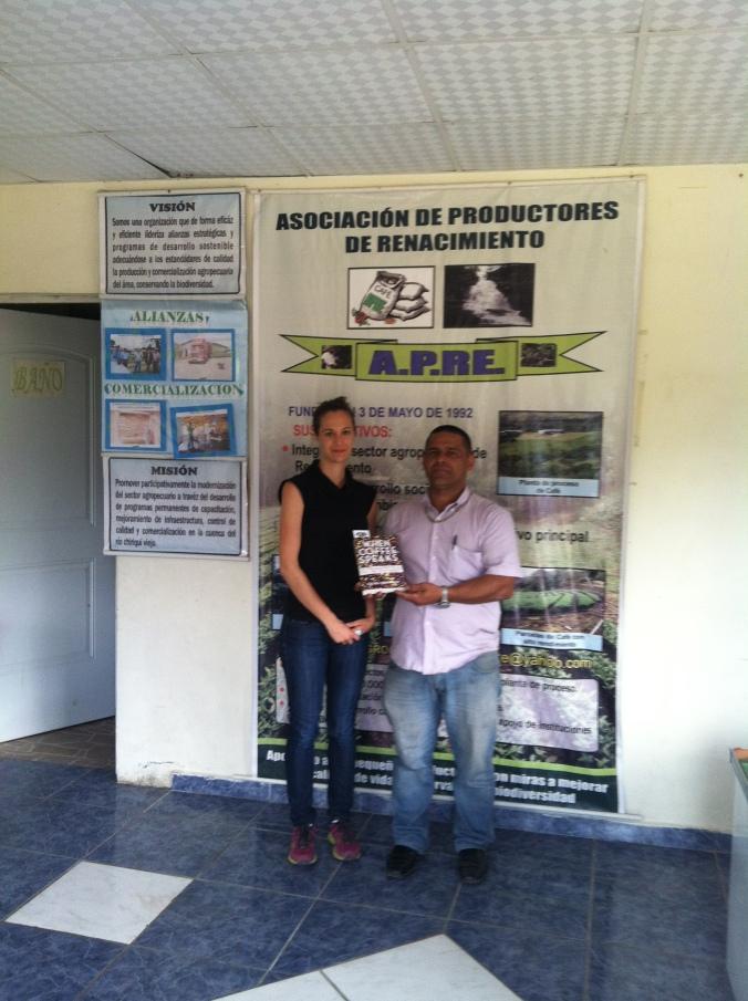 With Orlando at the APRE beneficio office