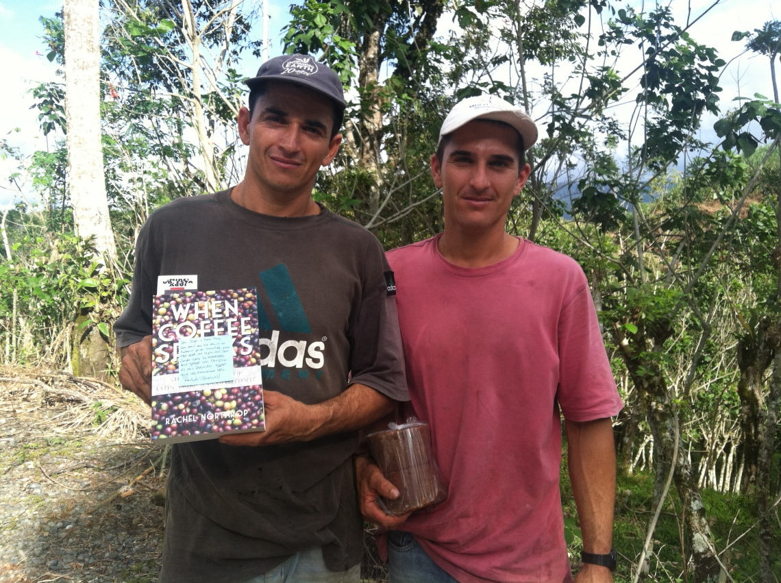 Jose's sons Luis and Alejandro at Finca Cañaveral