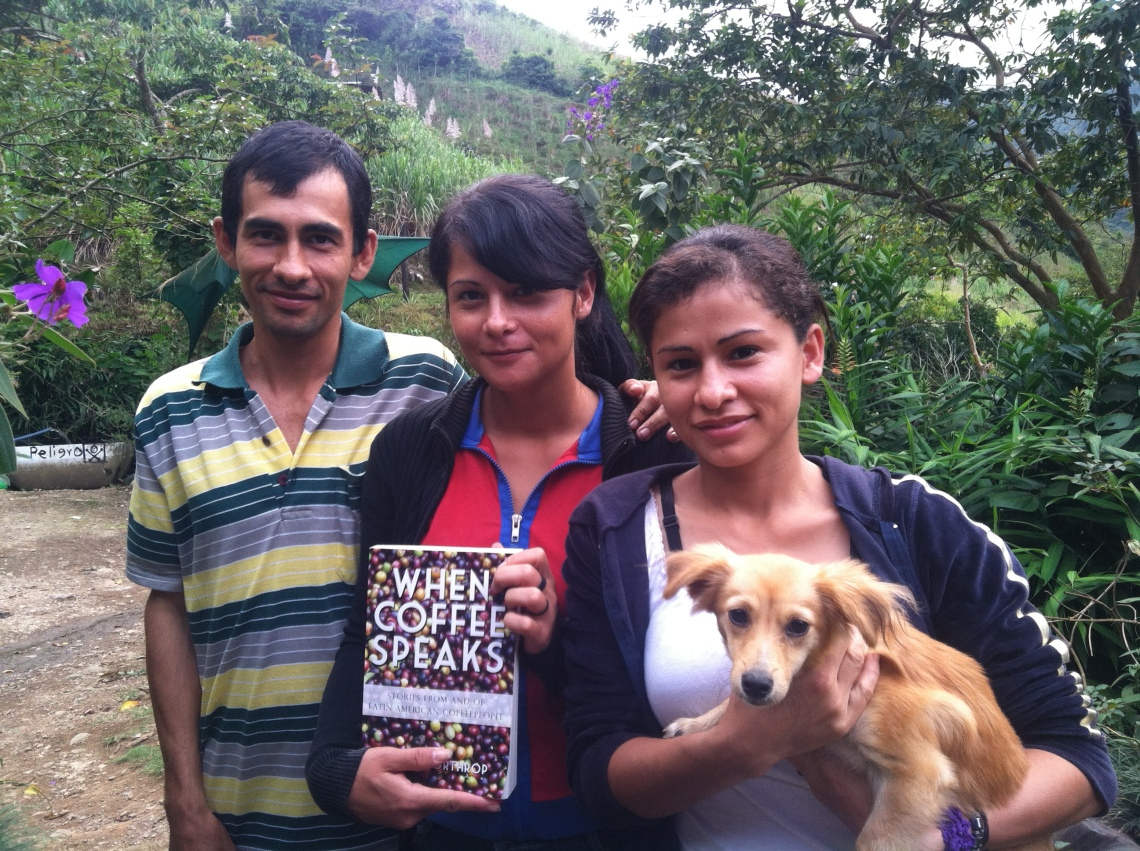 Gerardo and his sisters Maira and Carol (with the skinny puppy named Gorda)