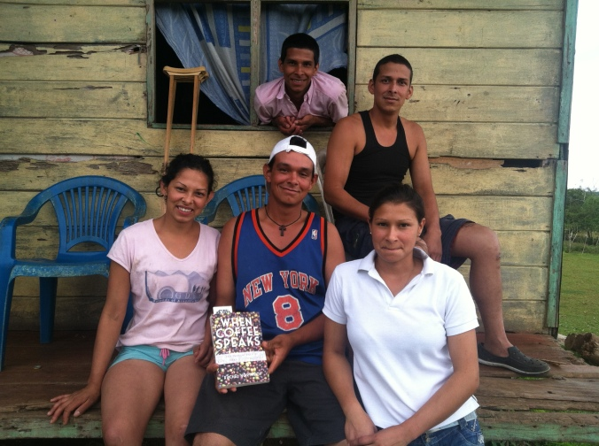 Some of Gerardo's children (Juan, oldest bro, Sonia, Raul, and Raquel) at their home in Guayabo