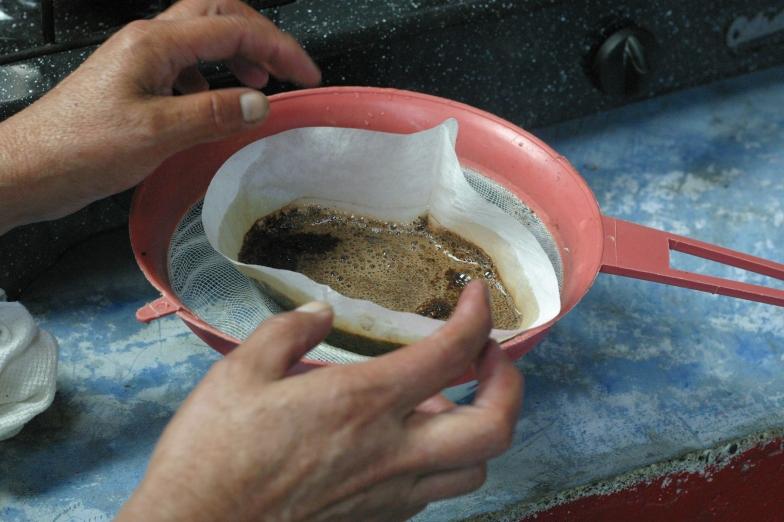 """coffee like grandma always made it"""