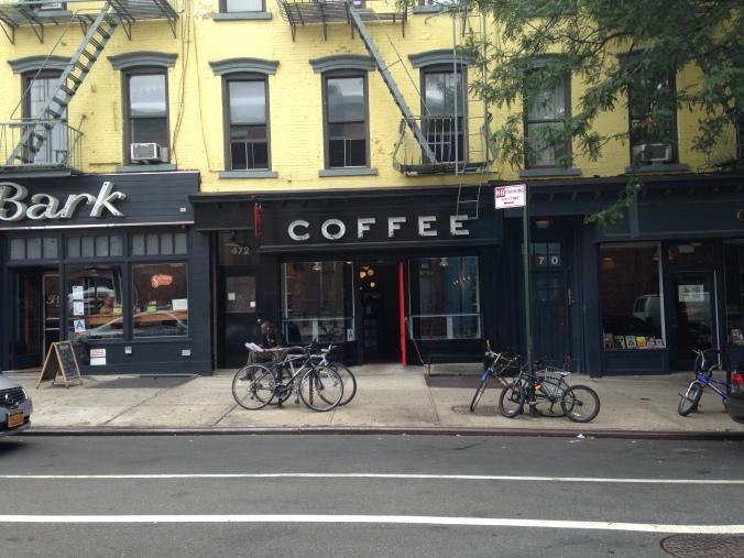 Caffeinated primates? That we are. Gorilla's new  Bergen St shop
