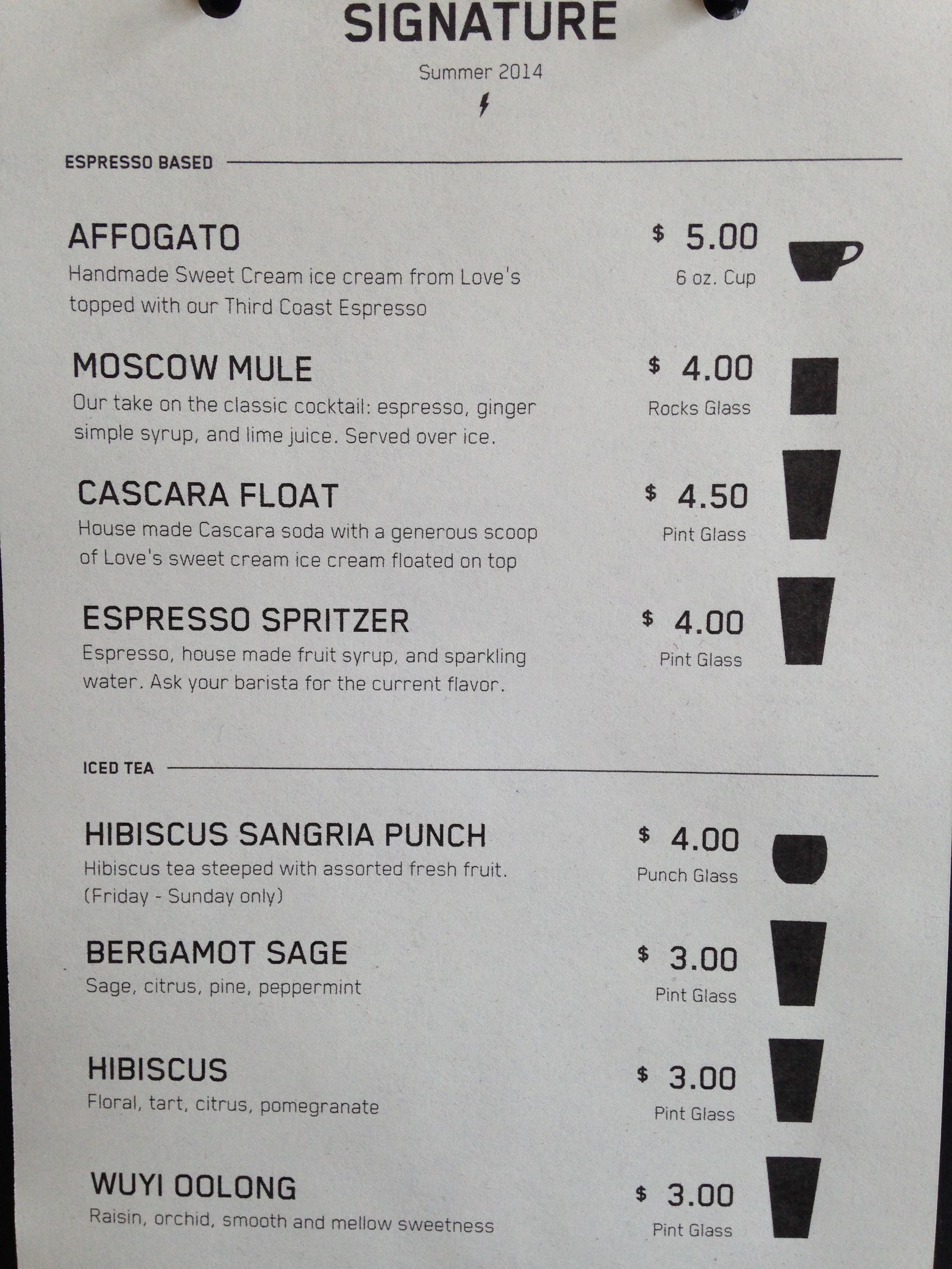 Madcap Cafe Menu
