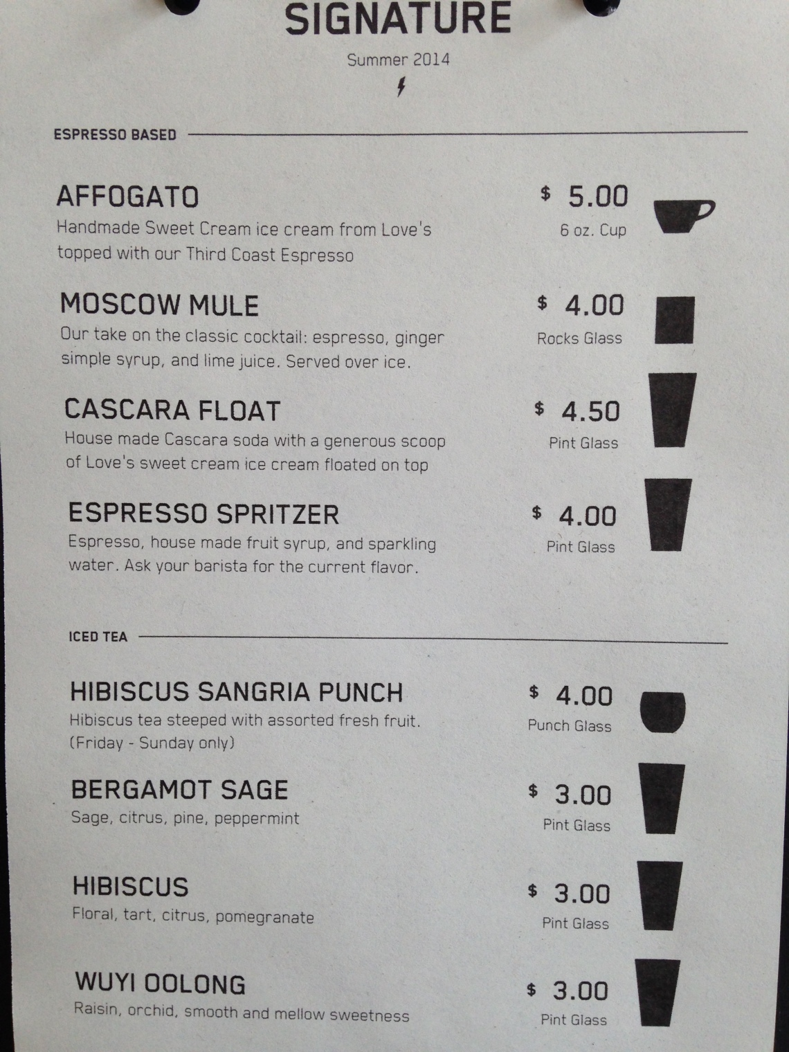 Madcap menu of mocktails of glory! THIS is what I'm talking about!