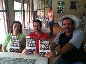 Susy, Daniel, and Miguel at Coopedota in Santa Maria de Dota, Tarrazú, Costa Rica in Nov. 2013