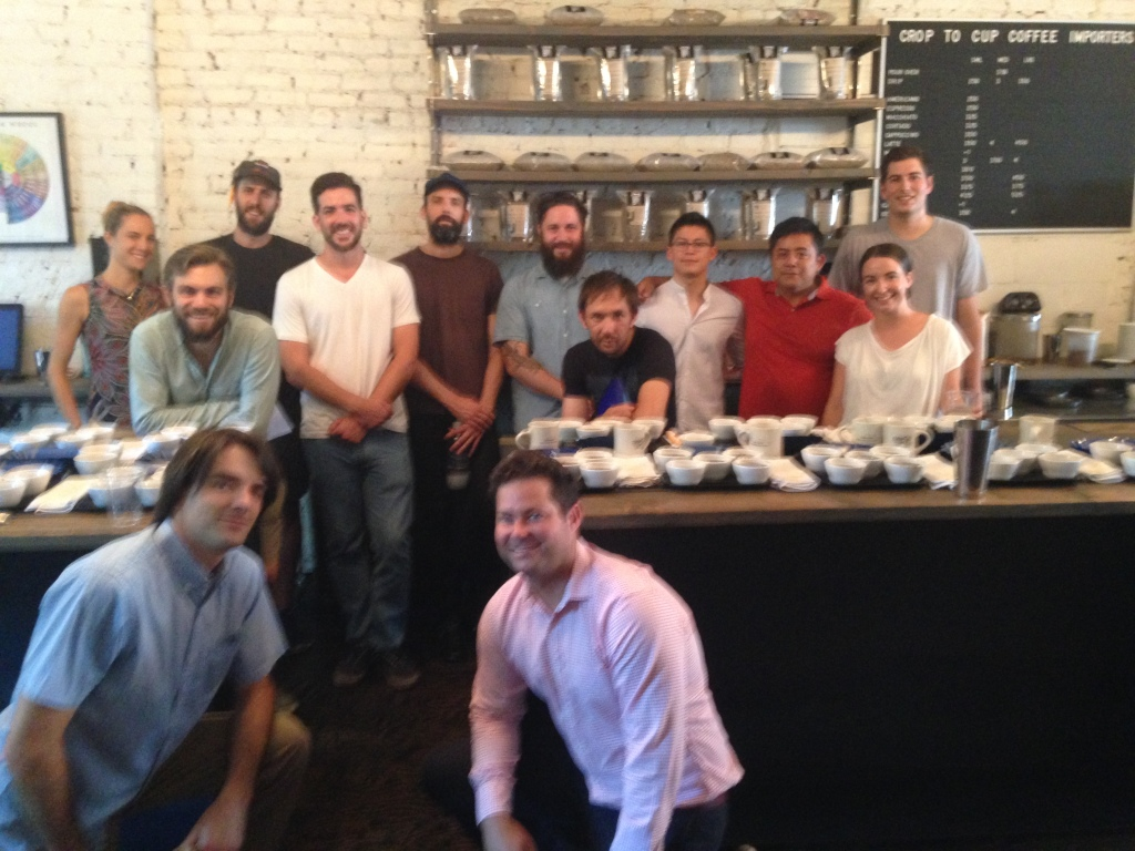For the joy of coffeepeople! Crop to Cup team and local NYC roasters.