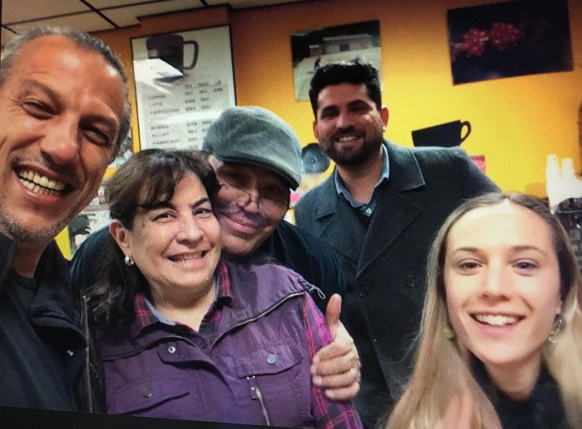 Producer Graciano Cruz, Roasters Lydia and Georgio Testani, Importer Ricardo Pereira, and me