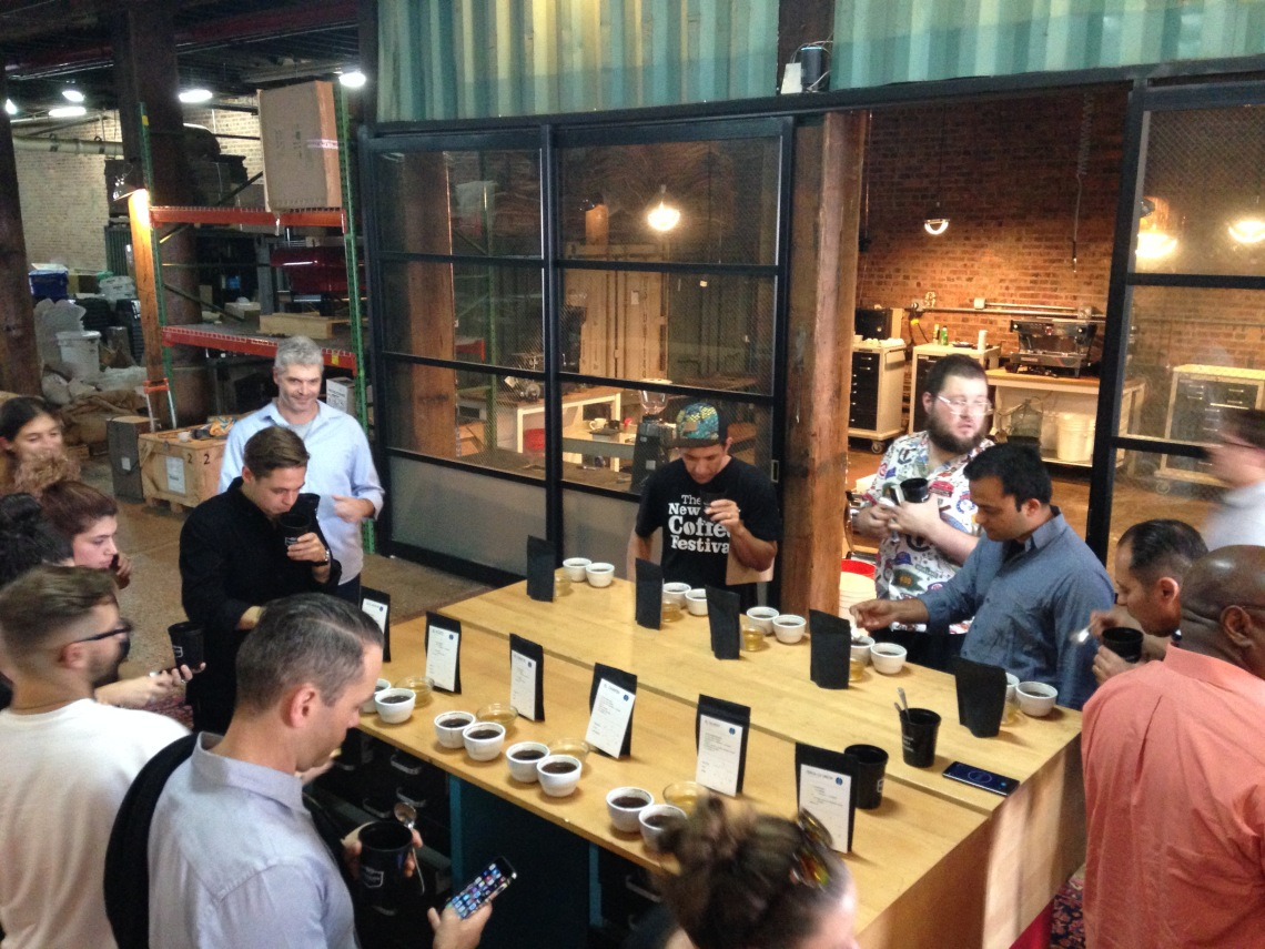 Ally New York launch cupping at Pulley Collective